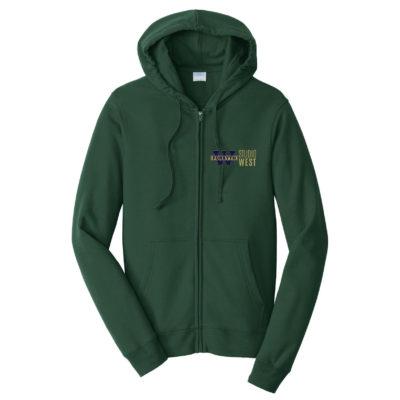 Hoodie-Green Zip