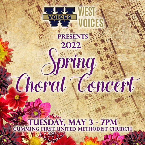 Spring Choral Concert- Tues 5-3 – 7pm